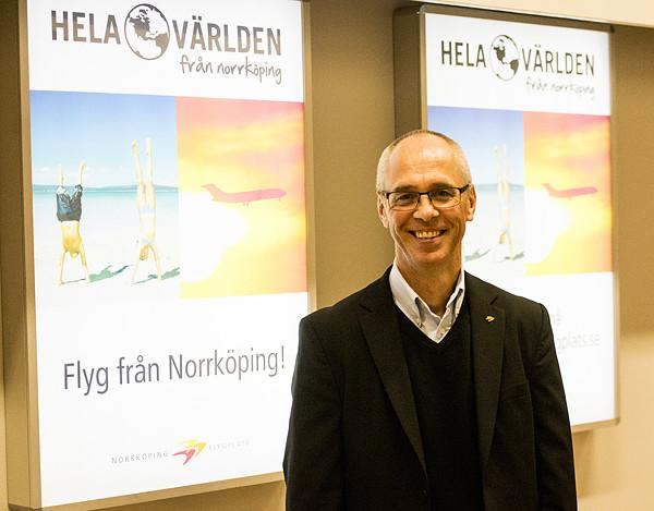 Bertil Skärblom, Norrköpings Flygplats