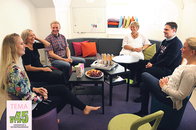 Kirsi Mikkonen, tvåa från vänster, med kollegor från Motala kommun.