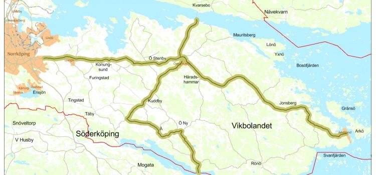 Så här ser planen ut för det stamfibernät som Norrköpings kommun och Norrköping Vatten och Avfall kommer att bygga.