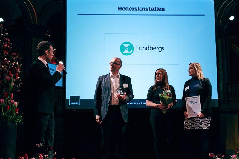 Lundbergs mottar hederskristallen2016