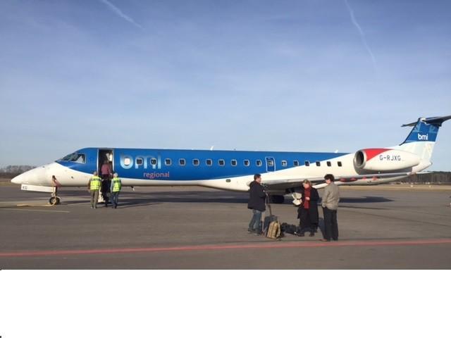Norrköping Flygplats BMI. Dubbla avgångar till München
