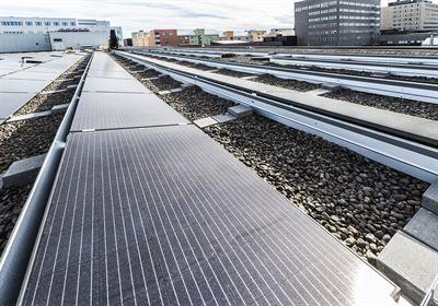 Lundbergs solceller Linden köpcentrum