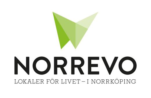 Kommunalt bolag får nytt namn.  Norrevos logotyp skapad av Cecilia Nordström, grafisk formgivare.