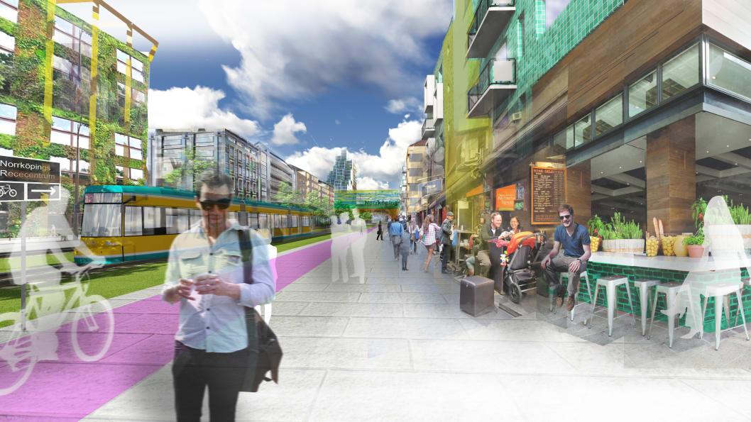 Hur ska Butängen och Johannisborg se ut i framtiden.  Illustration: Norrköpings kommun