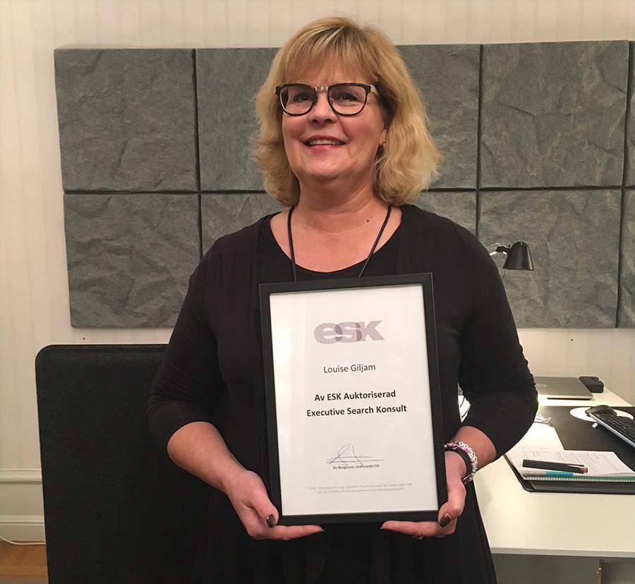 Louise Giljam, Cojn,en auktoriserad ESK-konsult