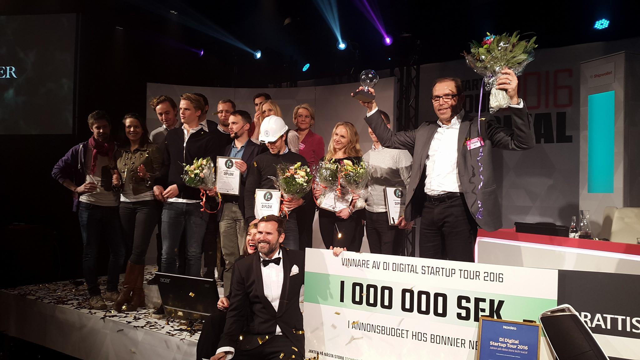 Amra vinnare Di Digital Startup Tour