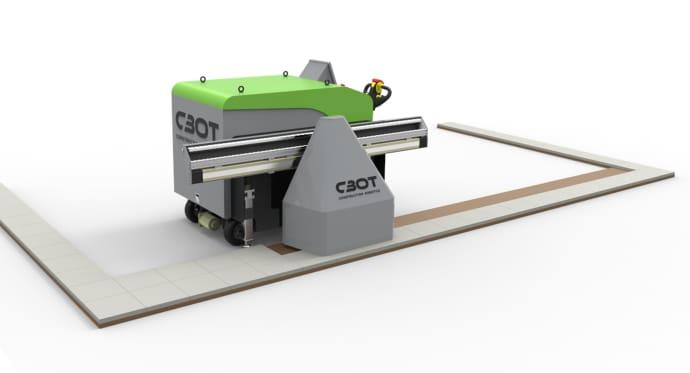Almi Invest investerar i CBots seende robot som lanseras senare i år. Det är en plattsättande robot för stora golv.