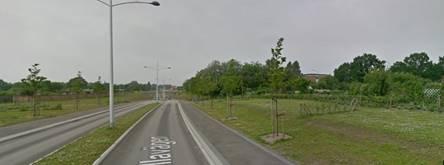 Ökad trafiksäkerhet med plan väg Kullavägen. Foto: Google maps
