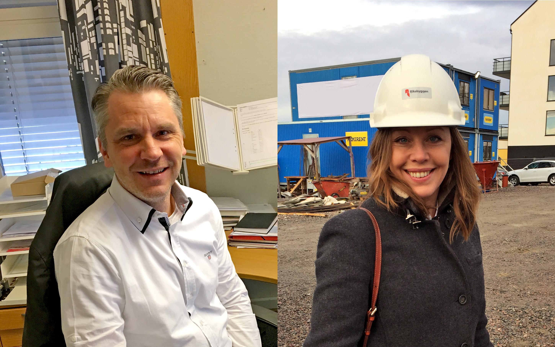 Riksbyggen och Åhlin & Ekeroth fördjupar samarbetet. Göran Lundstrom och Elin Sjöstrand