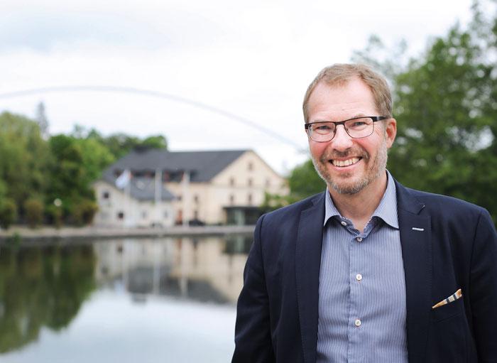 Göran Bengtsson, direktör för Swedish Aerospace Industries, berättar att Sverige fortfarande har en stark position inom den internationella rymdindustrin. Foto: Björn Lisinski