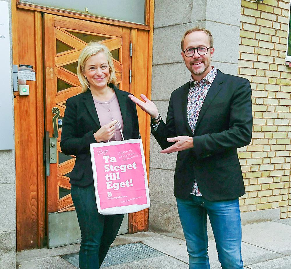 th. Erik Åqvist, tv. Anna Hjertstedt – Foto: NFC