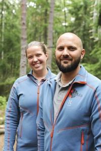Hanna Westberg Åhlfeldt och Mattias Åhlfeldt trodde aldrig att det skulle gå så bra från början. Foto: Björn Lisinski