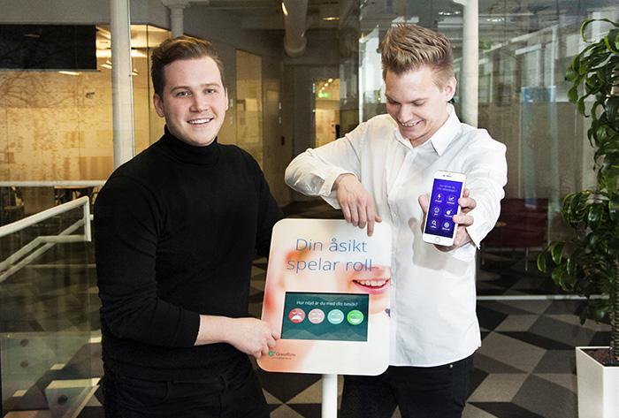 Svenskt koncept blir globalt när tech-startupen GreatRate expanderar. De två grundarna Eric Lager och Ted Axelsson på huvudkontoret i Norrköping.