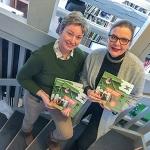 Ny bok om jordnära innovationer i Östergötland – lanseras på Världens Viktigaste Dag. Helene Oscarsson, vd på Vreta Kluster AB och Karin Christoffersson, Klara språket