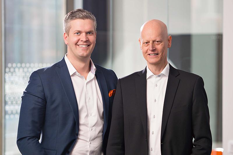 Linköpingsbolag tar täten på bredbandsmarknaden Pierre Wallgren, tillträdande VD på We Consulting och Tor Borrhed, koncernchef och VD för Maintrac