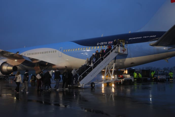 Norrköping Airport fortsätter att växa. bild: Tidig morgonavgång från Norrköping Airport