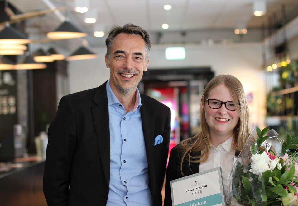 Årets hetaste sommarjobb. 24-åriga Beatrice tog hem sommarjobbet som vd och koncernchef med 100 000 kronor i lön