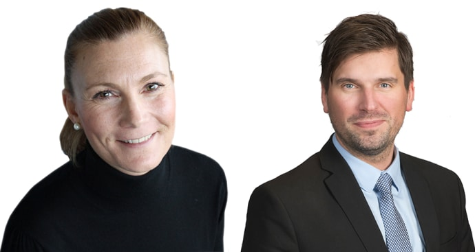 Lundbergs tillsätter ny marknads- och kommunikationschef samt ny hållbarhetschef. Lisa Lundh och Johan Sandborgh har nya tjänster på Lundbergs.