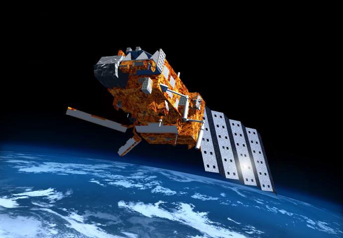RUAG Space bidrar till bättre väderprognoser och klimatövervakning. MetOp-satelliten photocred:ESA