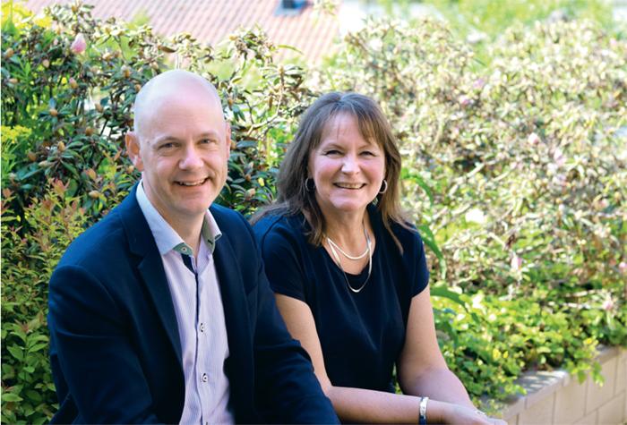 Från vänster: Martin Sundström och Anna Boholm