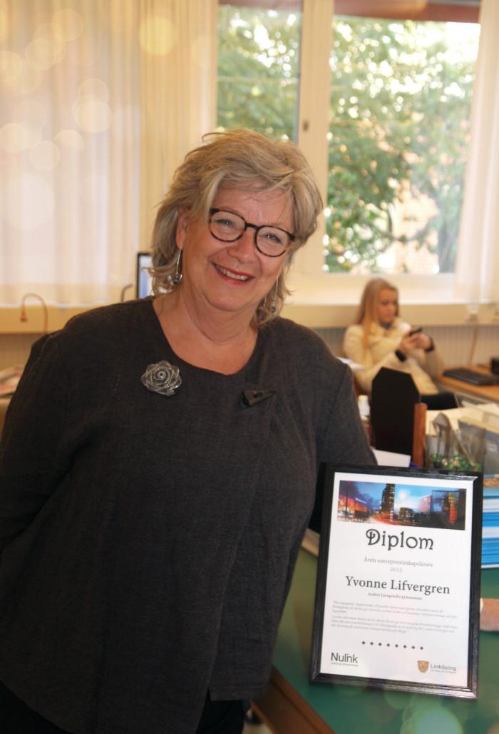 Hon blev årets entreprenörskapslärare i Linköping