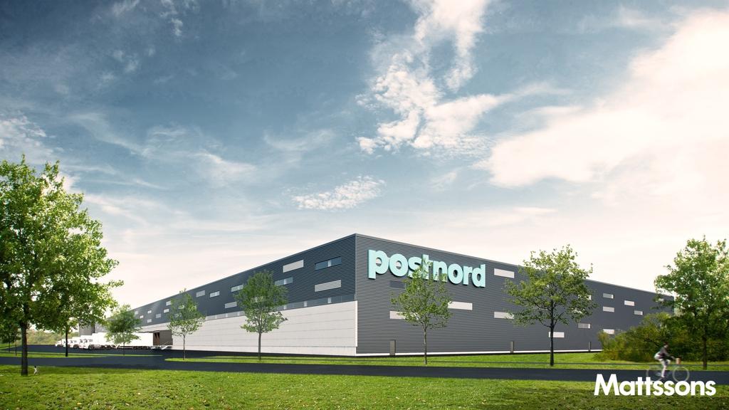 Mattssons bygger ut för Postnord i Norrköping