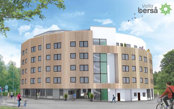 Linköpings första flerbostadshus i massivträ