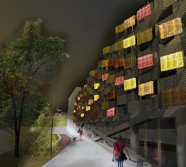 Vallastaden får Parkeringshus med fasad av transparenta solceller