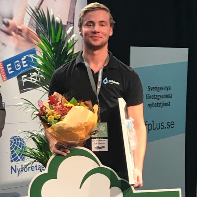 Filip Printzell Årets unga nyföretagare 2017