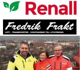Fredrik Frakt och Renall går samman i ett gemensamt bolag inom miljöservice och entreprenad