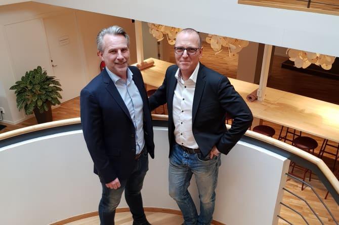 Michael Widén blir vice vd för OnePartnerGroup Östergötland.  Henric Forsman, vd OnePartnerGroup Östergötland tillsammans med Michael Widén, ny vice vd.