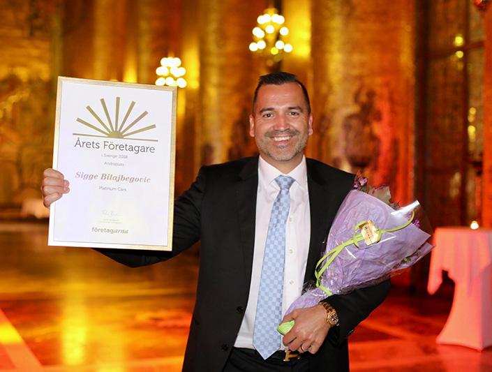 Affärsstaden gratulerar Sigge Bilajbegovic till andraplatsen i Årets företagare 2018
