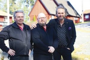 Christer Hansson, Michael Nilsson och Jonas Ridderström njuter på Vårdnäs Stiftsgård och brinner för att förvalta det på bästa sätt. Foto: Mirjam Lindahl