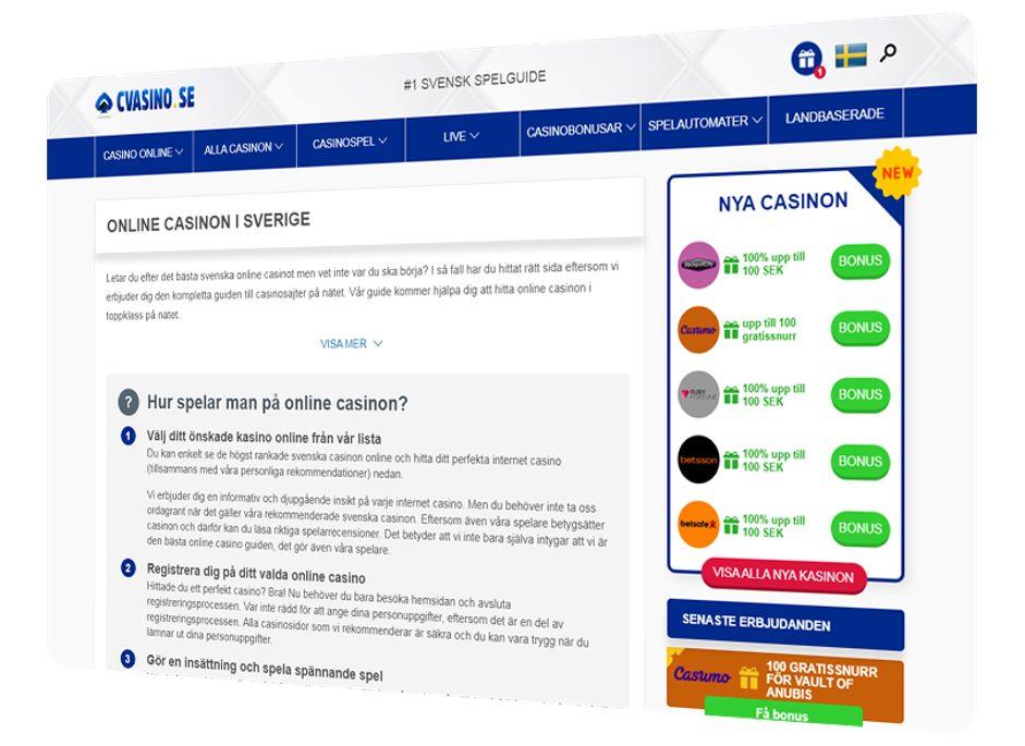 Scanteam introducerar Cvasino.se – ett nytt projekt för svenska casinofans